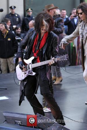 Joe Perry  Aerosmith performing live during the 'Today Show' concert series in New York City New York, USA -...