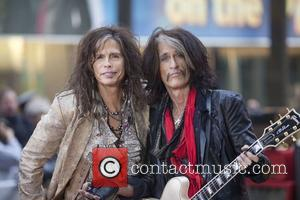 Steven Tyler, Joe Perry  Aerosmith performing live during the 'Today Show' concert series at the NBC Studios Rockerfeller Plaza...