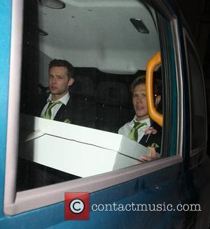 Wedding gifts carried in a taxi by Harry Judd and Dougie Poynter The wedding of McFly's Tom Fletcher and Giovanna...