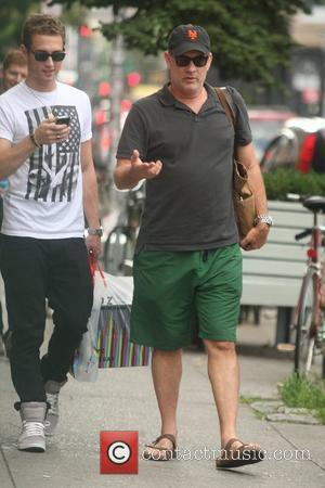 Actor Tom Hanks  seen out and about with his son Chet and daughter Elizabeth Hanks  New York City,...