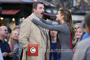 Tom Selleck appears on Entertainment News Programme 'Extra' at The Grove Los Angeles, California - 05.01.12