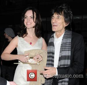 Ronnie Wood and Sally Humphreys