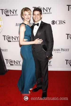 Ashley Spencer and Jeremy Jordan   The 66th Annual Tony Awards, held at Beacon Theatre - Arrivals  New...