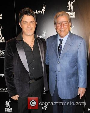 Alejandro Sanz and Tony Bennett arrive for the Tony Bennett Benefit Gala/Concert to benefiting Exploring the Arts, Team Bryan &...