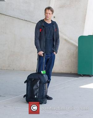 Tony Hawk waiting to be picked up at San Diego Airport San Diego, California - 07.06.12