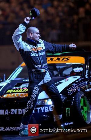 Shane Lynch (Boyzone) with his Stobart Drifting car Top Gear Live 2012 from the NEC Birmingham Birmingham, England - 25.10.12