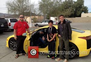 Richard Hammond, Jeremy Clarkson (in LFA) Top Gear presenters Jeremy Clarkson, James May and Richard Hammond driving an Aston Martin...