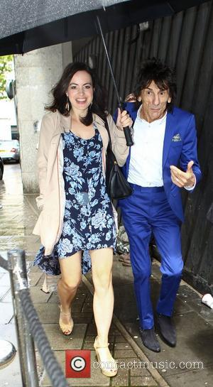 Ronnie Wood and Sally Humphreys High street retailers catwalk show to celebrate the British Fashion Council's inaugural menswear showcase -...