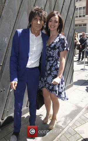 Ronnie Wood and Sally Humphries High street retailers catwalk show to celebrate the British Fashion Council's inaugural menswear showcase -...