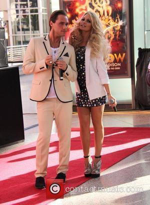 Josh Strickland and Angel Porrino Topshop and Topman open their flagship stores at the Fashion Show Mall Las Vegas Las...