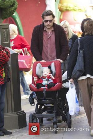 Dean McDermott; Finn McDermott Tori Spelling and her family visit Santa Claus and spend time shopping together at The Grove...