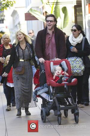 Tori Spelling, Dean Mcdermott and Finn Mcdermott
