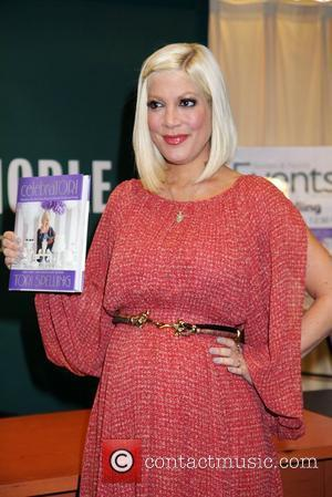 A pregnant Tori Spelling  signs her new book, 'CelebraTORI', at Barnes and Noble  New York City, USA -...