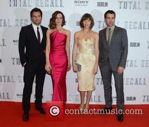 Len Wiseman, Kate Beckinsale, Jessica Biel, Colin Farrell Premiere of 'Total Recall' held at The Savoy - Arrivals Dublin, Ireland...