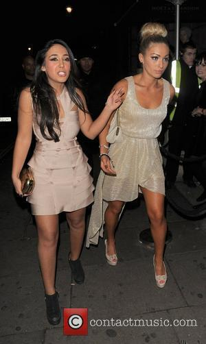 Peri Sinclair leaving Aura nightclub. London, England - 30.11.11