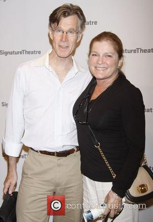 Tom Nelis and Kate Mulgrew  attending the premiere after party for 'The Train Driver' at the Signature Theatre New...