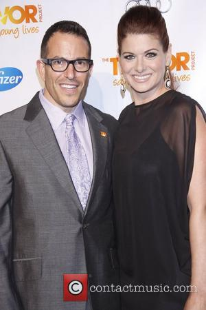 Michael Mayer and Debra Messing  'The Trevor Project's Trevor Live' benefit, held at Chelsea Piers New York City, USA...