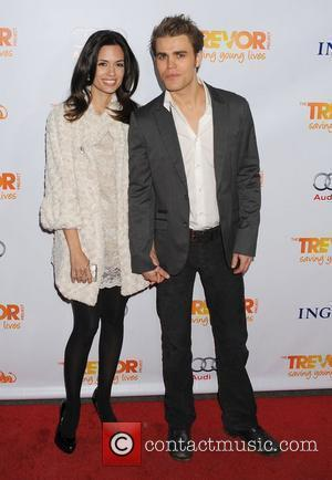 Torrey DeVitto and Paul Wesley,  at The Trevor Project's 2011 Trevor Live! at The Hollywood Palladium. Los Angeles, California...
