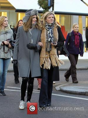 Celebrity fashion advisors Trinny and Susannah escort a group of tourists around the high end clothing stores of Notting Hill...