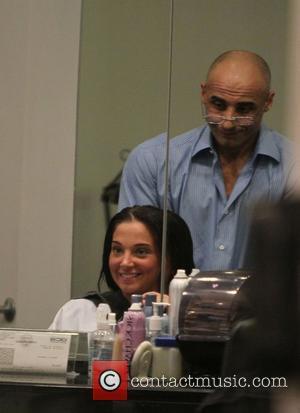 Tulisa Contostavlos at Nick Chavez hair salon. Los Angeles, California - 09.02.12