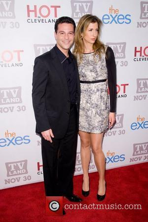 David Alan Basche and Alysia Reiner TV Land holiday premiere party for 'Hot in Cleveland' & 'The Exes' at SD26...