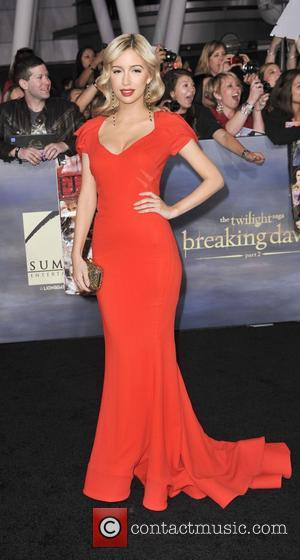 Christian Serratos  The premiere of 'The Twilight Saga: Breaking Dawn - Part 2' at Nokia Theatre L.A. Live Los...