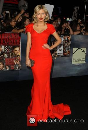 Christian Serratos  at the premiere of 'The Twilight Saga: Breaking Dawn - Part 2' at Nokia Theatre L.A. Live....