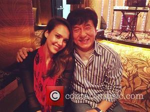 "Jessica Alba and Jackie Chan Jessica Alba tweeted this photo with the caption, '""With the national treasure of #china @eyeofjackiechan'..."