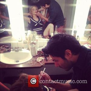 LeAnn Rimes  posted this image of herself on Twitter with the caption 'Getting made up....'