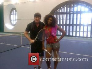 Piers Morgan posted this picture of himself with Serena Williams on Twitter with the caption 'Game. On. @serenawilliams #BattleOfTheSexes #CNN'...
