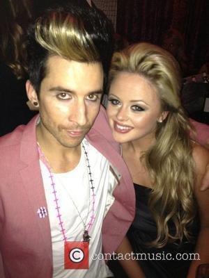 Russell Kane posted on this picture on his Twitter with the caption 'Post movie drinkies with lovely @EmAtack!'