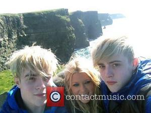 Jedward posted this picture on Twitter with Tara Reid during a trip to Ireland with the caption 'John! Tara! Edward!...