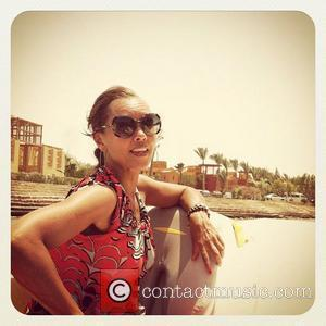 "Vanessa Williams posted this picture to her twitter with the caption: ""El Gouna lagoon. @sashafoxyy driving the boat uh oh...""..."