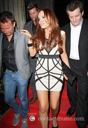 Maria Fowler leaving the UK Lingerie Awards held at One Mayfair London, England - 20.09.12