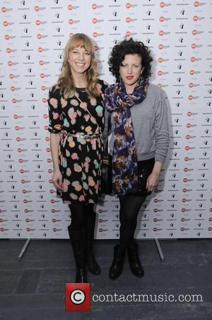 Sarah Cox and Annie Mac  at Centre Point's 'Ultimate Pub Quiz' held at the Paramount  London, England -...