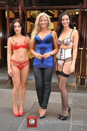 Michelle Mone Photocall for Ultimo 'Black Label' collection at House of Fraser Glasgow, Scotland - 25.10.12