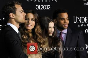 Theo James, India Eisley, Kate Beckinsale, Michael Ealy and Grauman's Chinese Theatre