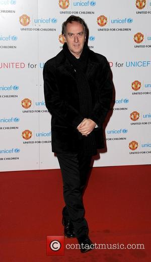 Angus Deayton United for UNICEF gala dinner, held at Manchester United Football Club, Old Trafford - Arrivals Manchester, England -...