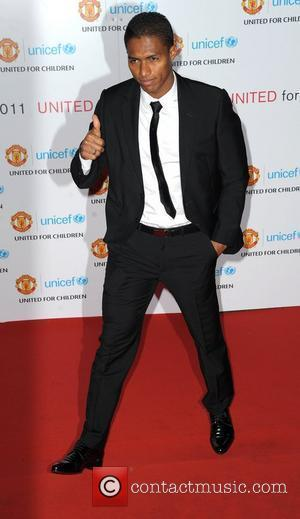 Antonio Valencia United for UNICEF gala dinner, held at Manchester United Football Club, Old Trafford - Arrivals Manchester, England -...