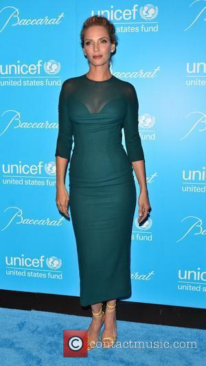 Uma Thurman 2011 UNICEF Snowflake Ball at Cipriani 42nd Street - Arrivals  New York City, USA - 29.11.11