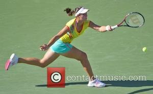Laura Robson  US Open 2012 Women's Match- Kim Clijsters vs Laura Robson held at USTA Billie Jean King National...