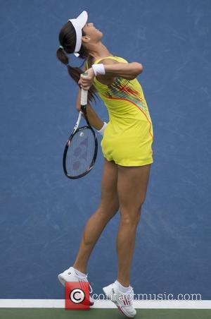 Ana Ivanovic US Open 2012 Women's Match - Ana Ivanovic (SRB) v. Svetlana Pironkova (BUL) held at USTA Billie Jean...