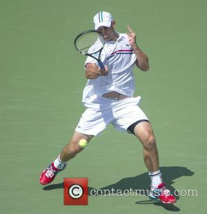 US Open 2012 Andy Roddick (USA) vs. Rhyne Williams (USA) wins with a score of 6-3, 6-4, 6-4 held at...