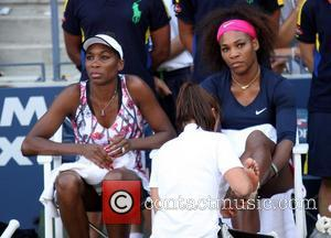 US Open 2012 Women's Doubles Match - Serena Williams and Venus Williams vs Lindsay Lee-Waters and Megan Moulton-Levy at USTA...