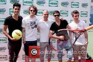Max George, Jay McGuiness, Siva Kaneswaran, Tom Parker, Nathan Sykes of The Wanted Arthur Ashe Kids Day 2012, held at...