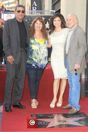 Valerie Bertinelli and family Valerie Bertinelli is honored with the 2,476th star on the Hollywood Walk of Fame Hollywood, California...