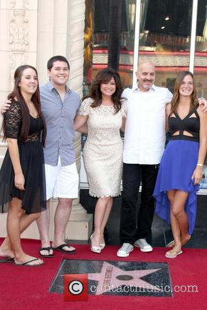 Valerie Bertinelli, Wolfgang Van Halen, Tom Vitale and his daughters Valerie Bertinelli is honored with the 2,476th star on the...