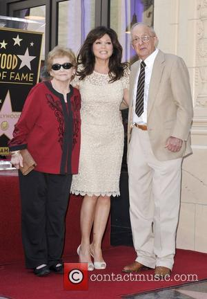 Valerie Bertinelli, parents,  Valerie Bertinelli is honored with the 2,476th star on the Hollywood Walk of Fame Hollywood, California...