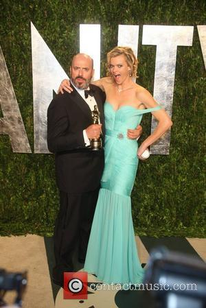 Mark Bridges and Missi Pyle 2012 Vanity Fair Oscar Party at Sunset Tower Hotel - Arrivals Los Angeles, California -...
