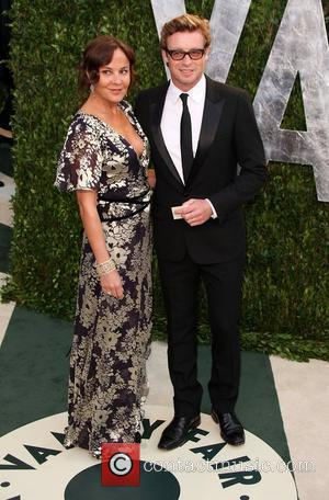Simon Baker and Rebecca Rigg 2012 Vanity Fair Oscar Party at Sunset Tower Hotel - Arrivals West Hollywood, California -...